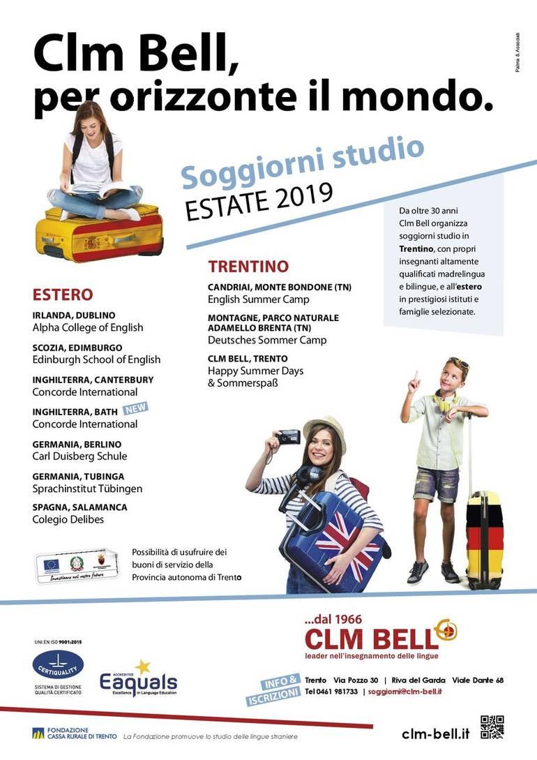 Clm Bell, per orizzonte il mondo - Soggiorni studio estate 2019 ...
